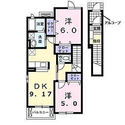 ドウ・ベル・メゾンI[203号室]の間取り