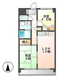 ジーニアス1[3階]の間取り