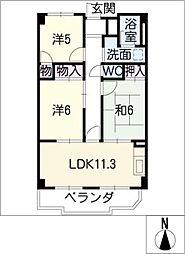 マンション桂[4階]の間取り