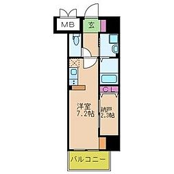 ONLYONE鶴之荘[502号室]の間取り