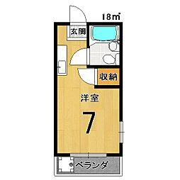 百合マンション[402号室]の間取り