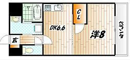 ウィングス片野II[2階]の間取り