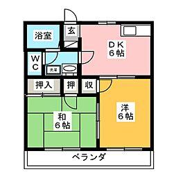 第2ロイヤル大嶋[2階]の間取り