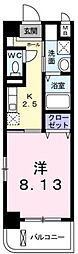広島県福山市南蔵王町3丁目の賃貸マンションの間取り