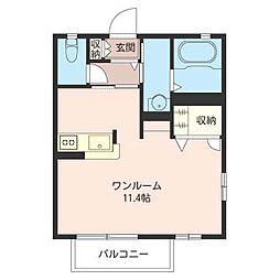 アメニティメゾンII[2階]の間取り