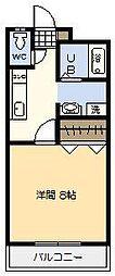 ジニアハイツ[102号室]の間取り