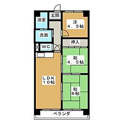 三京マンション[3階]の間取り