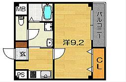 大阪府茨木市春日5丁目の賃貸アパートの間取り