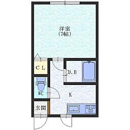シティコート八幡[1階]の間取り