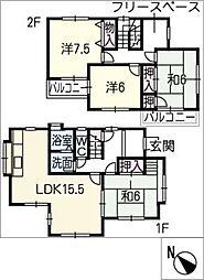 [一戸建] 三重県鈴鹿市若松西4丁目 の賃貸【/】の間取り