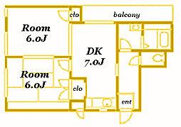 サンスクエアTSURUMI[A102号室]の間取り