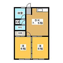 スクエアーハウス[2階]の間取り