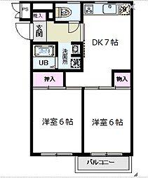 シティパル戸塚第1[2階号室]の間取り