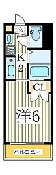 パルテール江戸川台[1階]の間取り