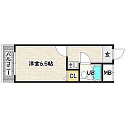 ピュア神戸[6階]の間取り