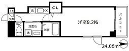 フォレスト梅田西 12階1SKの間取り