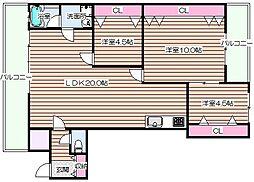 TAIHOクリスタルビル[7階]の間取り