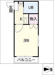 FOUR GREEN JOTO[2階]の間取り