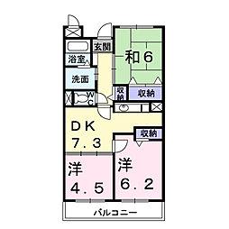 メゾン・ソレアード[3階]の間取り