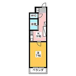 センエイハイツA[3階]の間取り