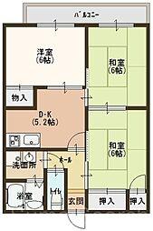 虹ヶ丘ハイツ[1階]の間取り