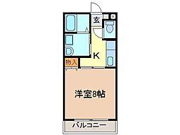 静岡県富士宮市星山の賃貸アパートの間取り
