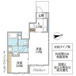 (仮)小松1丁目アパート[102号室号室]の間取り