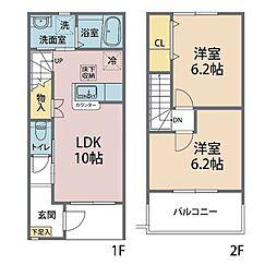 Next Stage(ネクストステージ) 2階2LDKの間取り