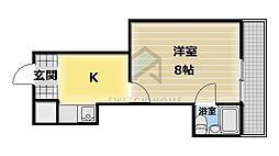 ハイツ富士パート2[4階]の間取り