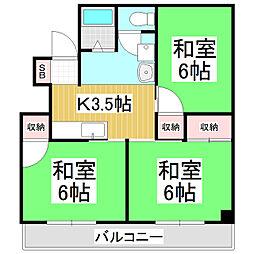 ビューハイツ神澤[2階]の間取り