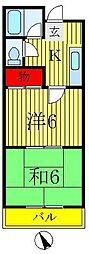 冨永マンション[3階]の間取り