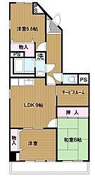 神奈川県横浜市緑区中山町の賃貸マンションの間取り