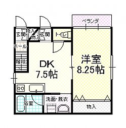 トロピカルハウス[2階]の間取り