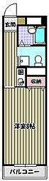ラポール三国[4階]の間取り
