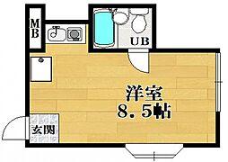 松野コーポ A棟[2階]の間取り