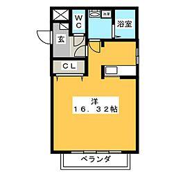 テクノコーポ8[1階]の間取り
