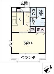 ユートピア垣鼻 II[3階]の間取り