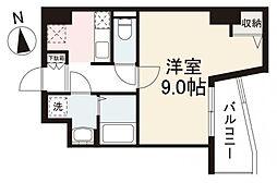 JR高徳線 栗林公園北口駅 徒歩7分の賃貸マンション 4階1Kの間取り