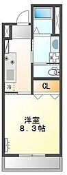 (仮称)大阪狭山市半田5丁目新築アパート 1階1Kの間取り