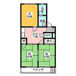 シャトー芝[2階]の間取り
