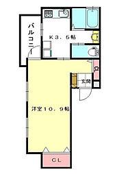 埼玉県北足立郡伊奈町小針内宿の賃貸アパートの間取り