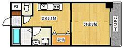 ポピットハイム[4階]の間取り