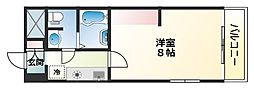 トモミハイム曙 3階1Kの間取り