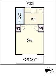 石川マンション[1階]の間取り