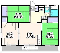 東京都西東京市下保谷5丁目の賃貸マンションの間取り