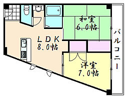 ライフハウス秀2号館[305号室]の間取り