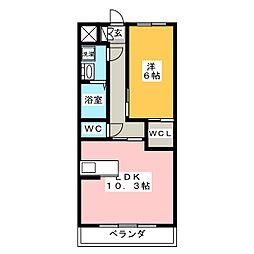 メゾンブローニュ 11[3階]の間取り