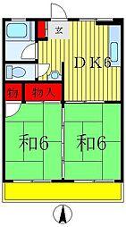 丸重マンション[3階]の間取り