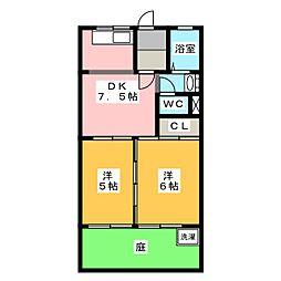 エンドレスASANO[1階]の間取り