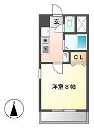 楽RAKU荘[4階]の間取り